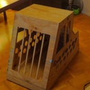 Wooden Car Crate for Dogs