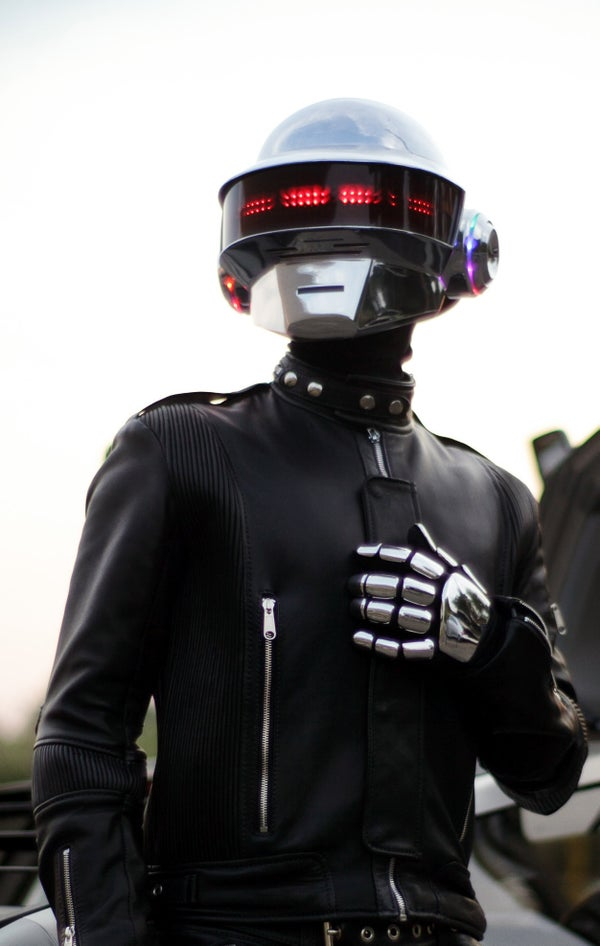 Building a Daft Punk Helmet With Programmable LED Display