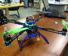 3D Printed & Carbon Fiber QuadCopter