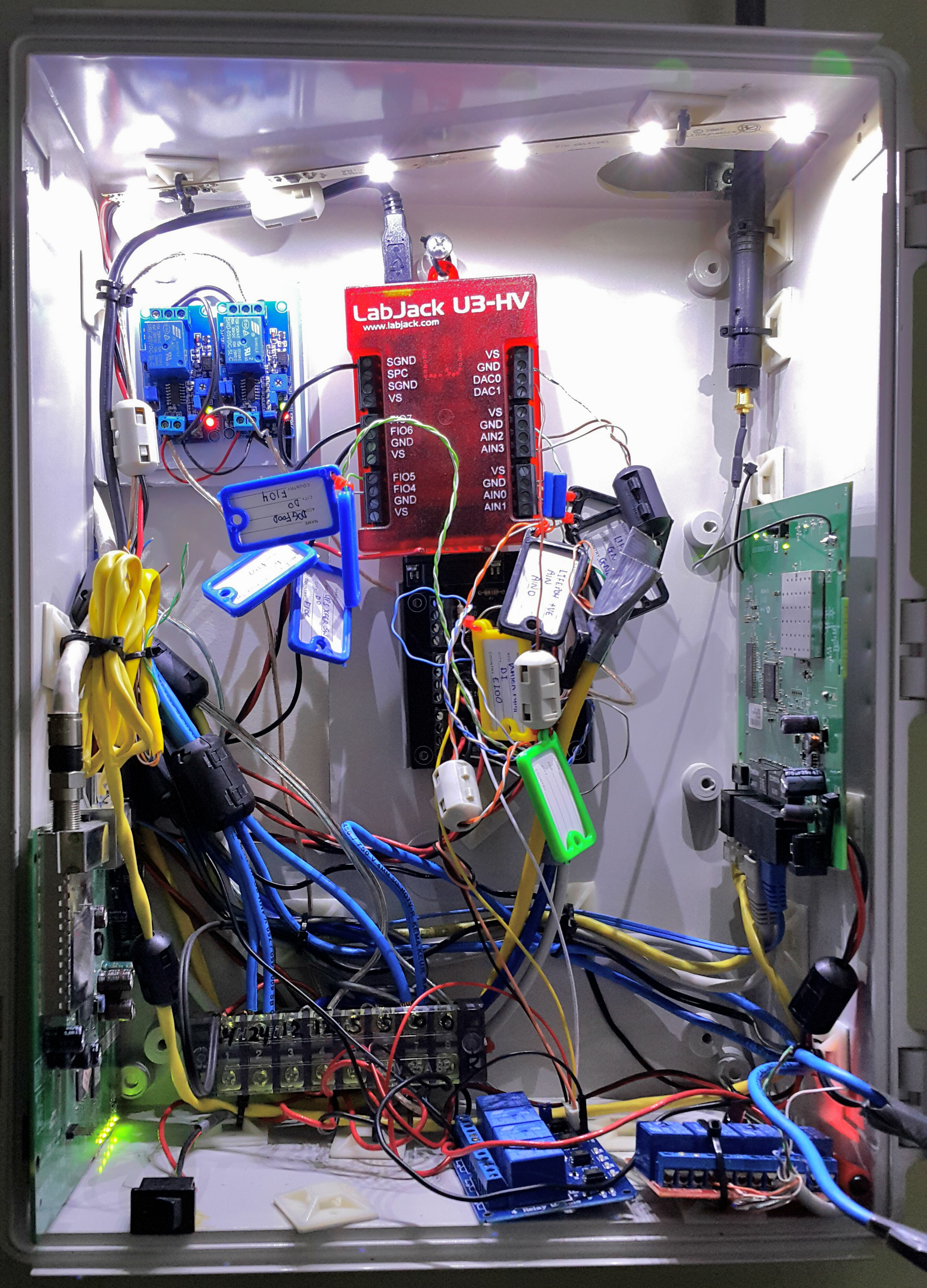 Picture of Keeping the Wiring in One Place.