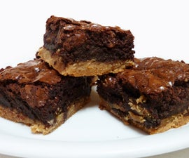 Toffee Bottomed Brownies