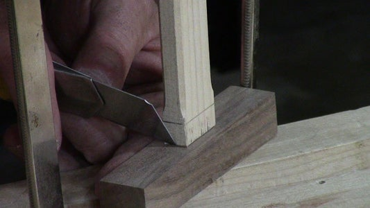 Mark Out the Joinery With a Sharp Knife.