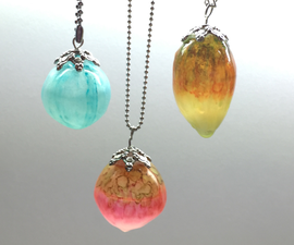 Translucents hollow beads- Necklace