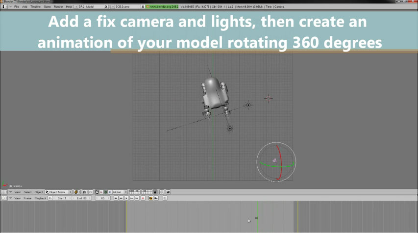 Picture of Create an Animation of Your Model Rotating