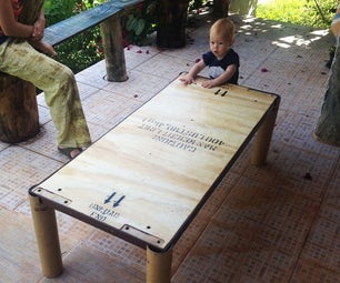 Coffee Table Out of Pallets and Cardboard Tubes