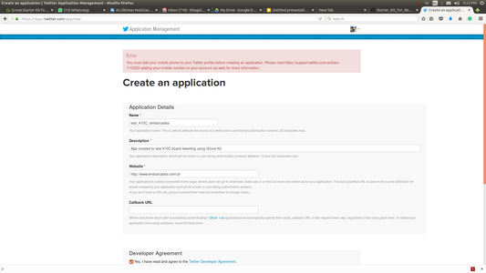 Insert All Informations and Create an App