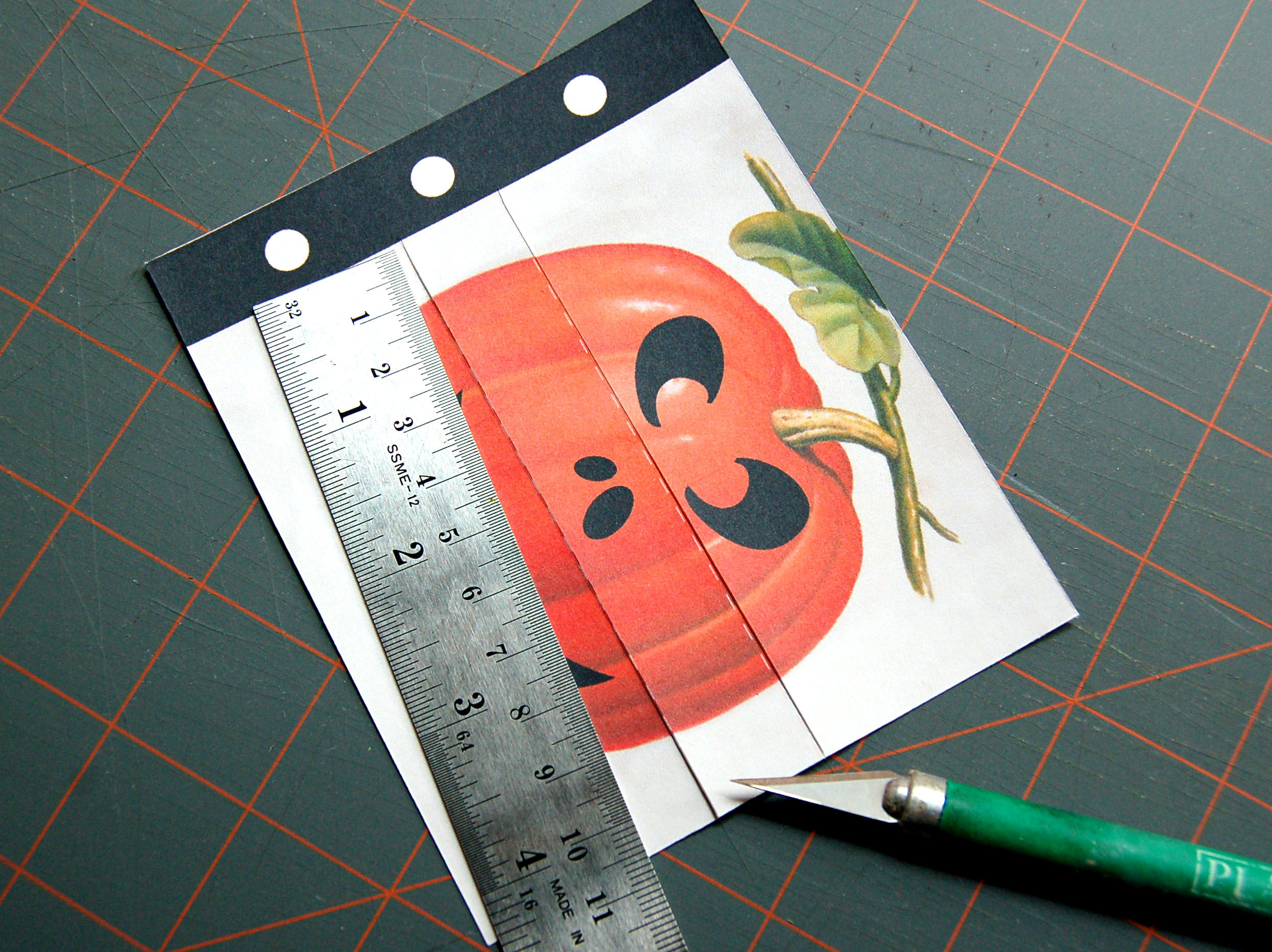 Picture of Trim Each Card and Punch Holes