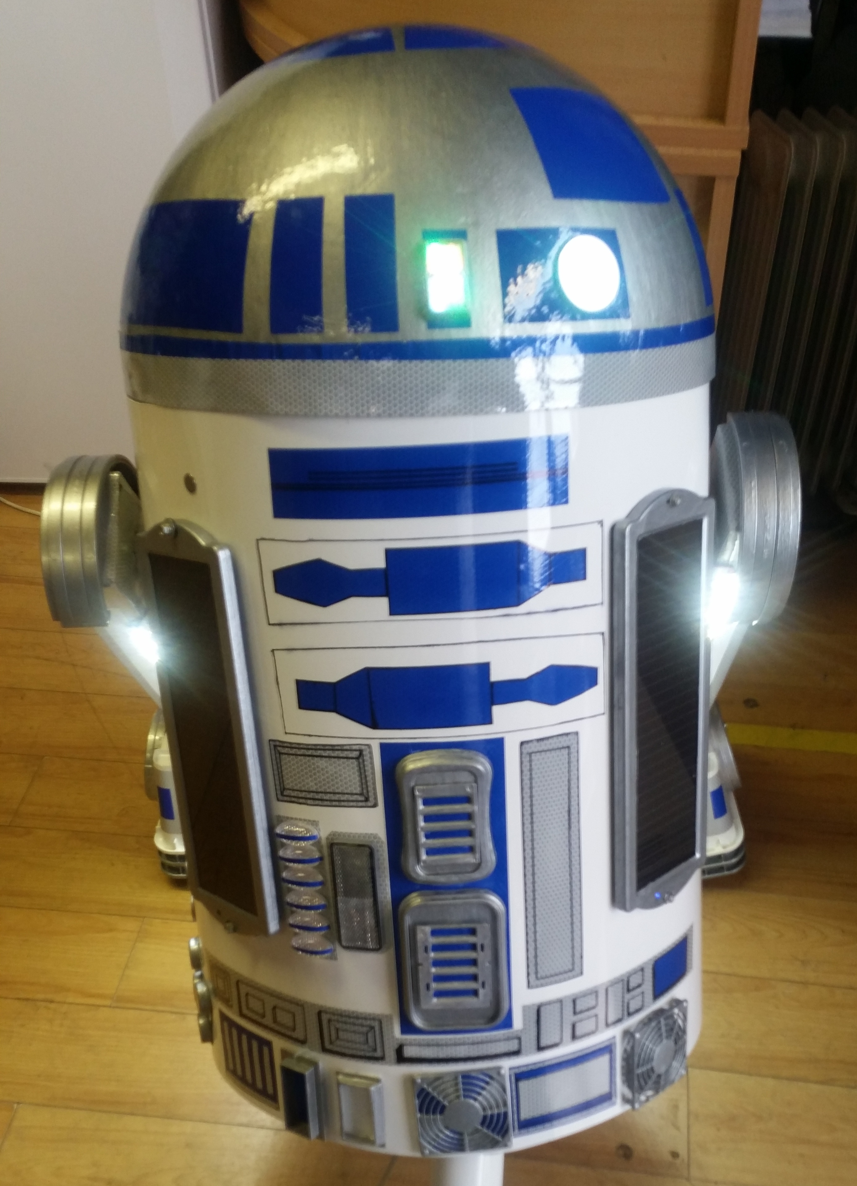 Picture of Solar Powered Recycled Full Size R2D2 Fully Functional