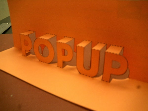 Pop-Up 3D Words and Messages!