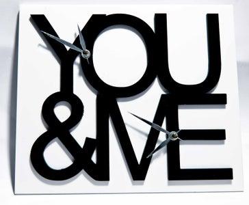 You & Me Clock (Laser Cut)