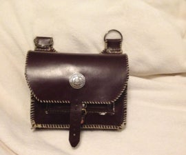 Leather black powder Shooters bag