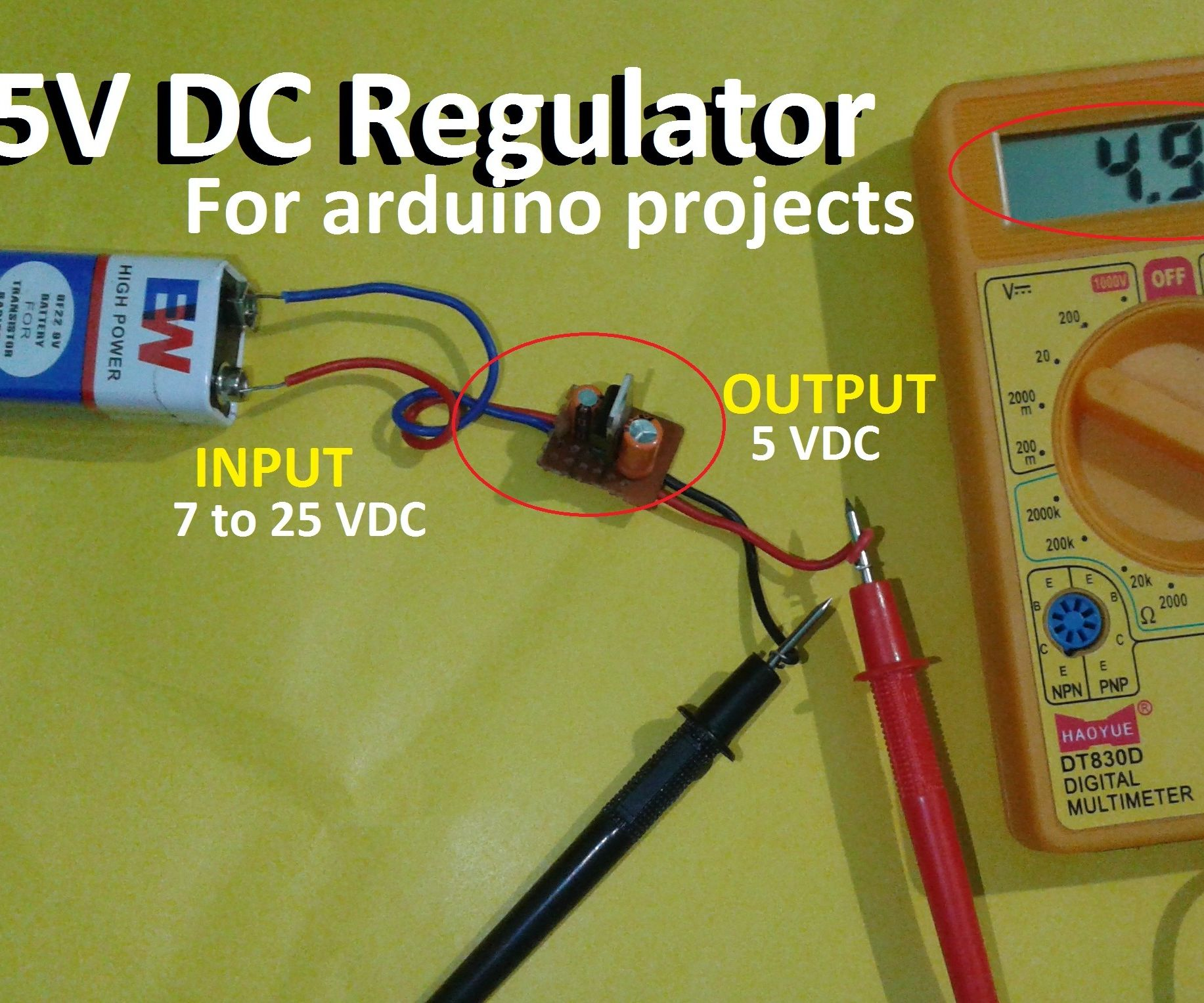 7805 Regulator 5v Module Easy Tutorial 5 Steps With Pictures Current Output Multiplier For 78xx