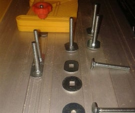 tee slot bolts for table saw and router jigs