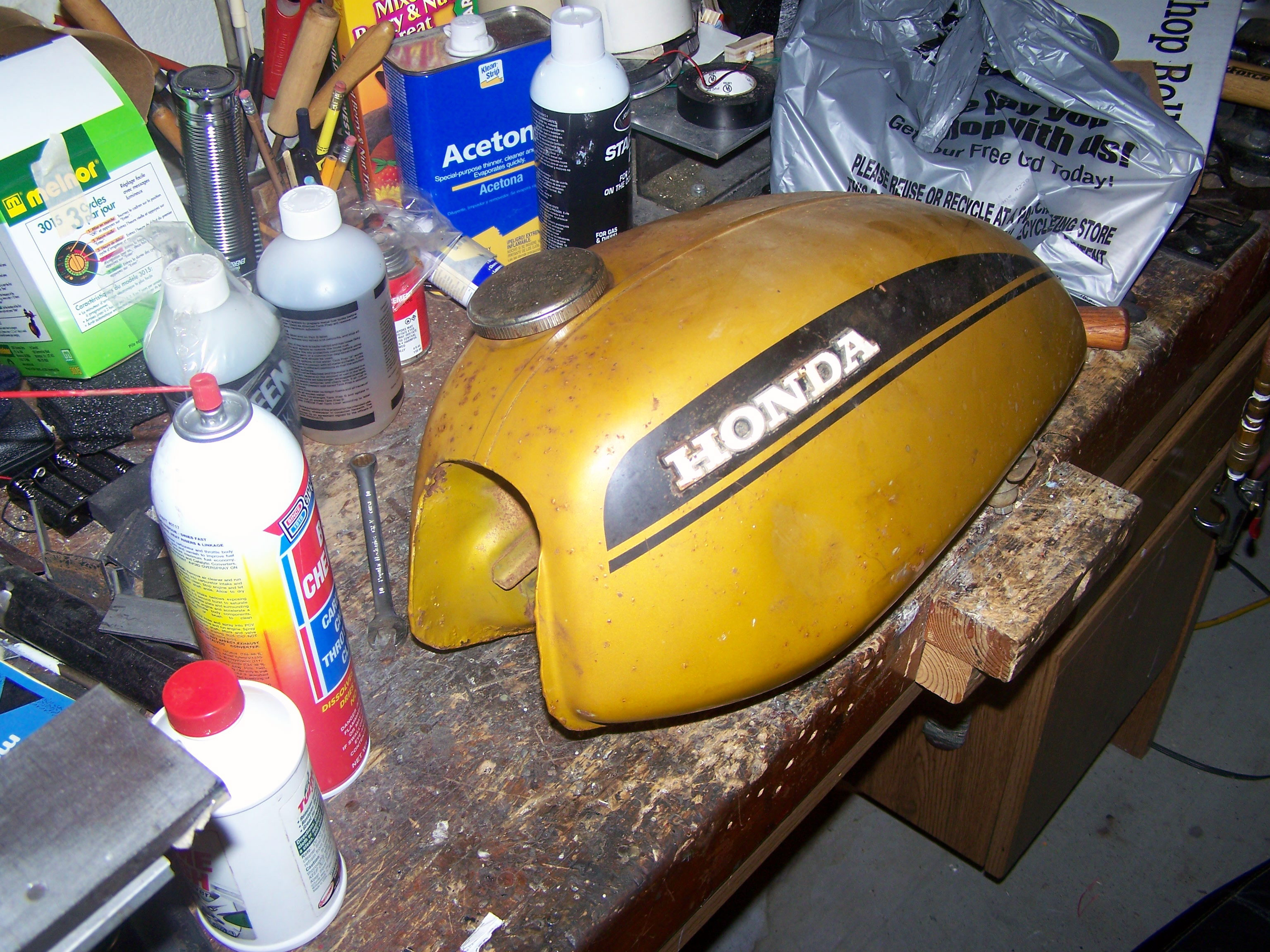 Picture of Repairing the Gas Tank