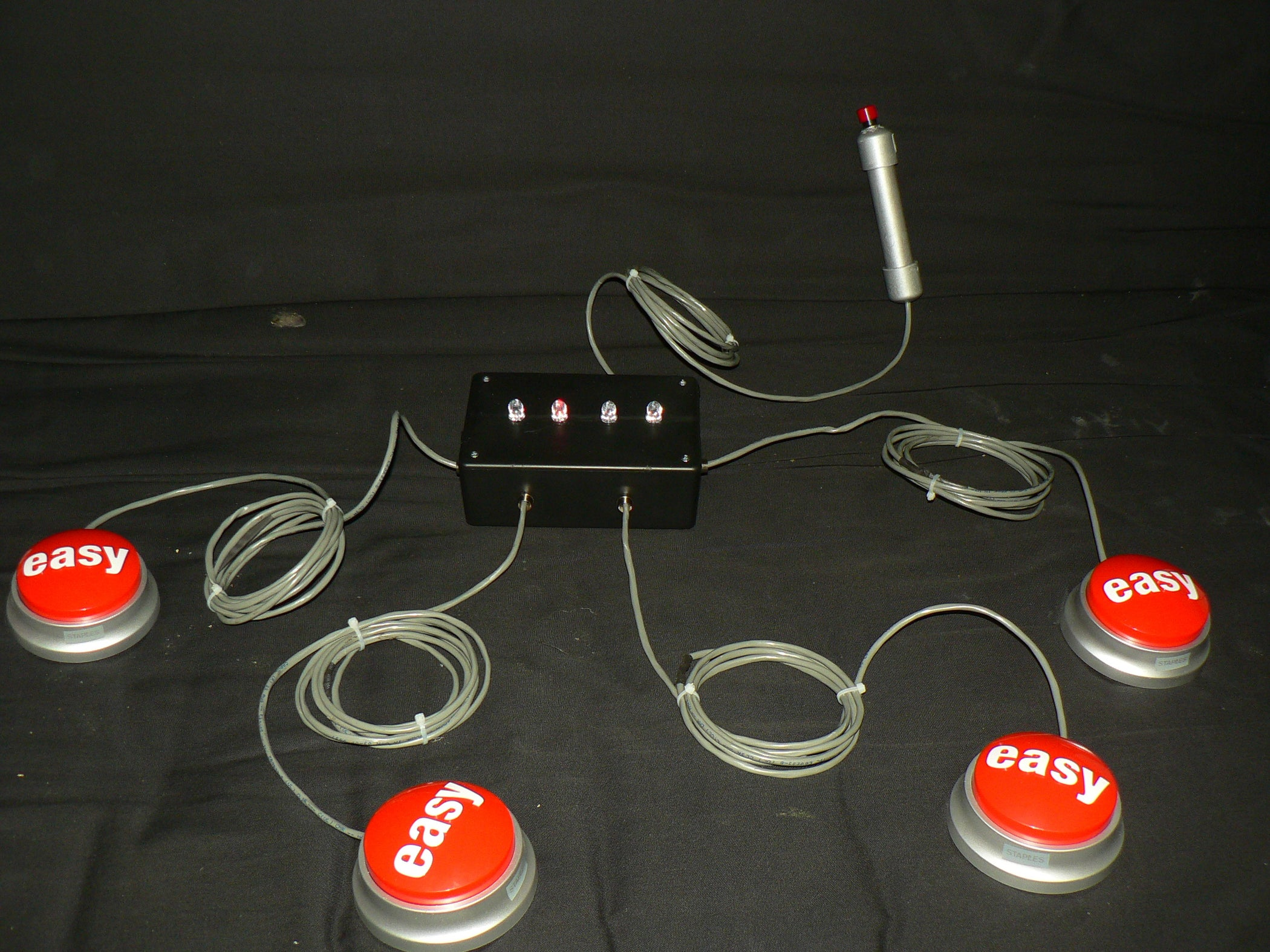 Quiz Show Buzzer System Using Staples Easy Button 7 Steps With Commercial Wiring Powerpoint Presentation Pictures