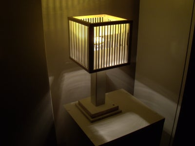 Wood Frame + Chopstick Lampshade