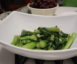 How to Stir-Fry Choy Sum Vegetable (Yu Choy)