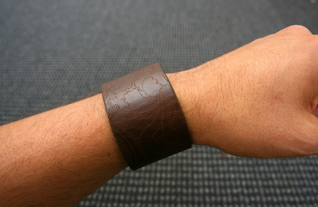 Picture of Leather Bracelets From Recycled Belts