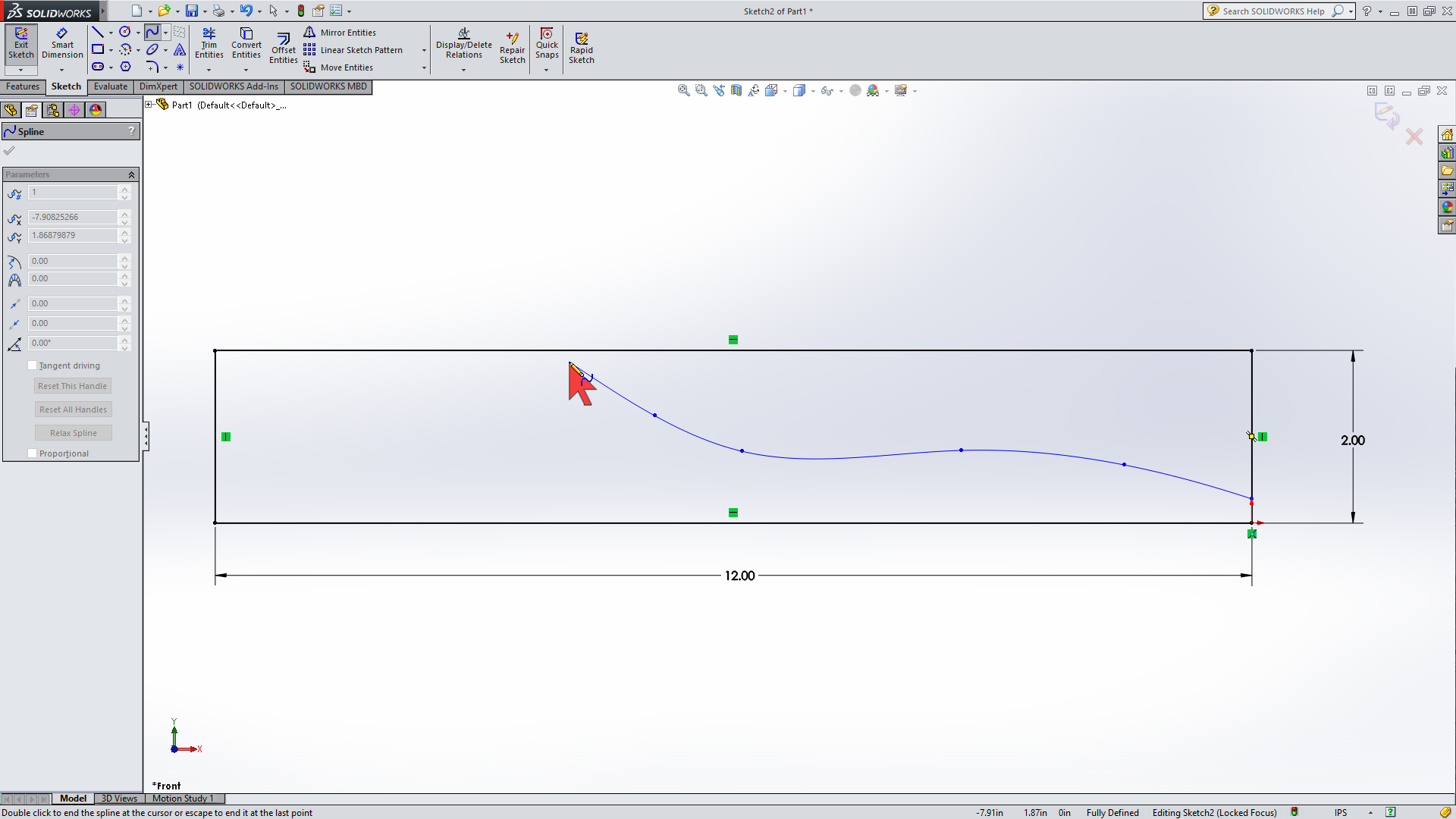 Picture of Spline Tool for Profile