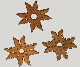 Wooden Snowflake and Star Ornaments