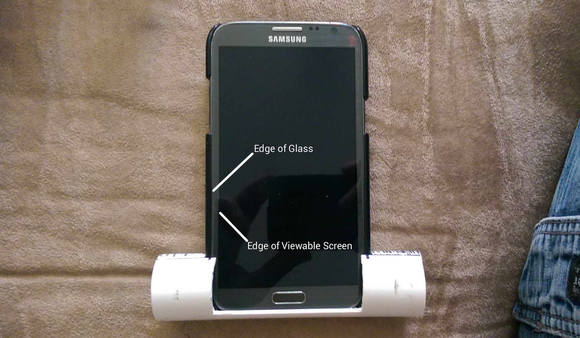 Picture of Measure the Phone and Cut the Tubing