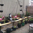 Outdoor Planters From Rain Barrels and Pallets