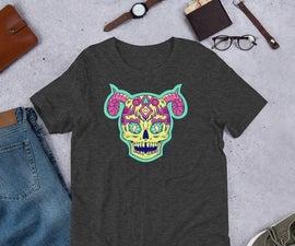 Illustrating a Halloween Skull T-shirt
