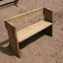 Easy beach or garden bench out of scrap wood