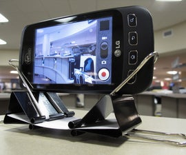 Binder clip cellphone stand