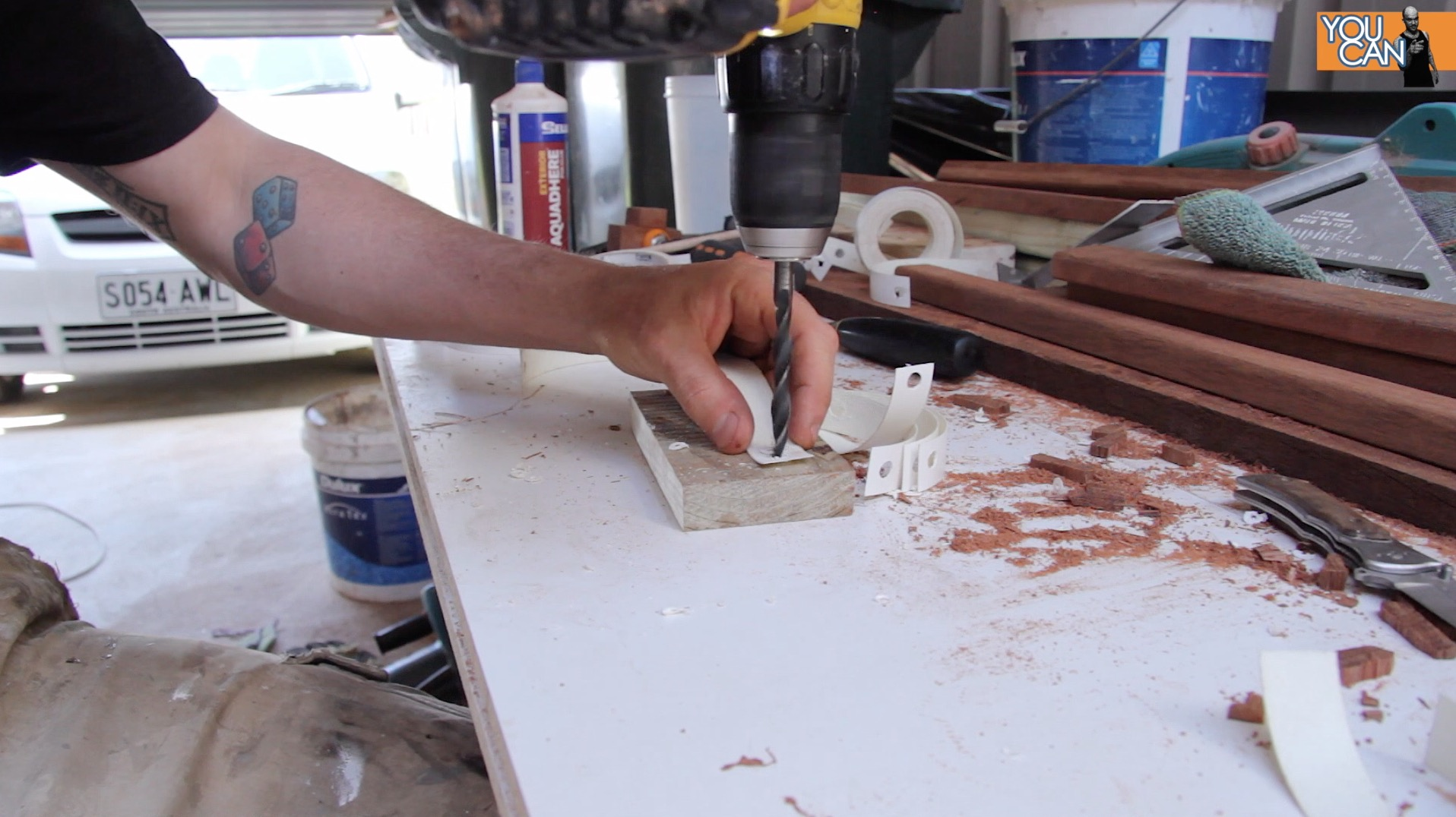 Picture of Cut and Drill the Melamine