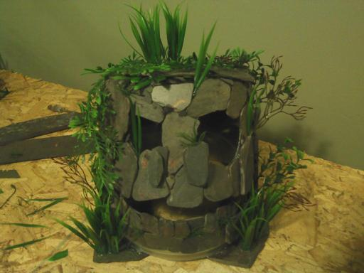 Monster Fish Cave Made From Slate Tiles