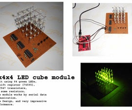 4x4x4 LED Cube, With MSP430, Using Only 3 Pins