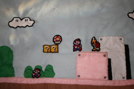 Playable Quilted Mario Snuggie