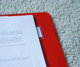 Homemade Notebook Dividers