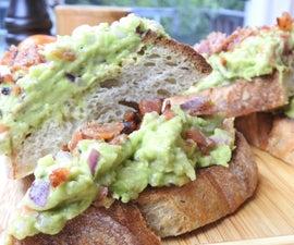 Bacon Avocado Breakfast Toast