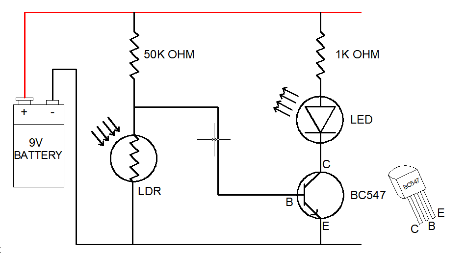 Ldr Circuit Diagram How To Wire A Relay Switch Motion Detector Circuit