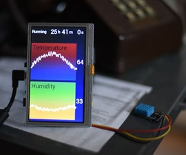 Arduino 24 Hour Temperature Humidity Display