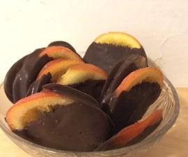 Easy Chocolate-covered Orange Slices
