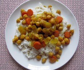 Chickpea and carrot tangine