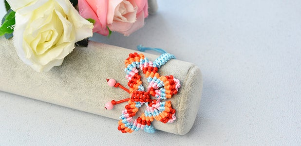 Time for the Final Look of the Nylon Threads Butterfly Friendship Bracelet: