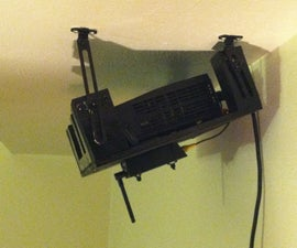 Projector Mount and VGA Cat5 Cable Extension for Home Theater