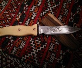 Knife and wood sheath