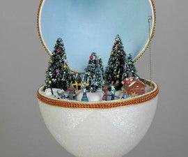 Mr. Christmas Train in egg