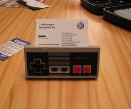 Nintendo Controller Business Card Holder! w/sound