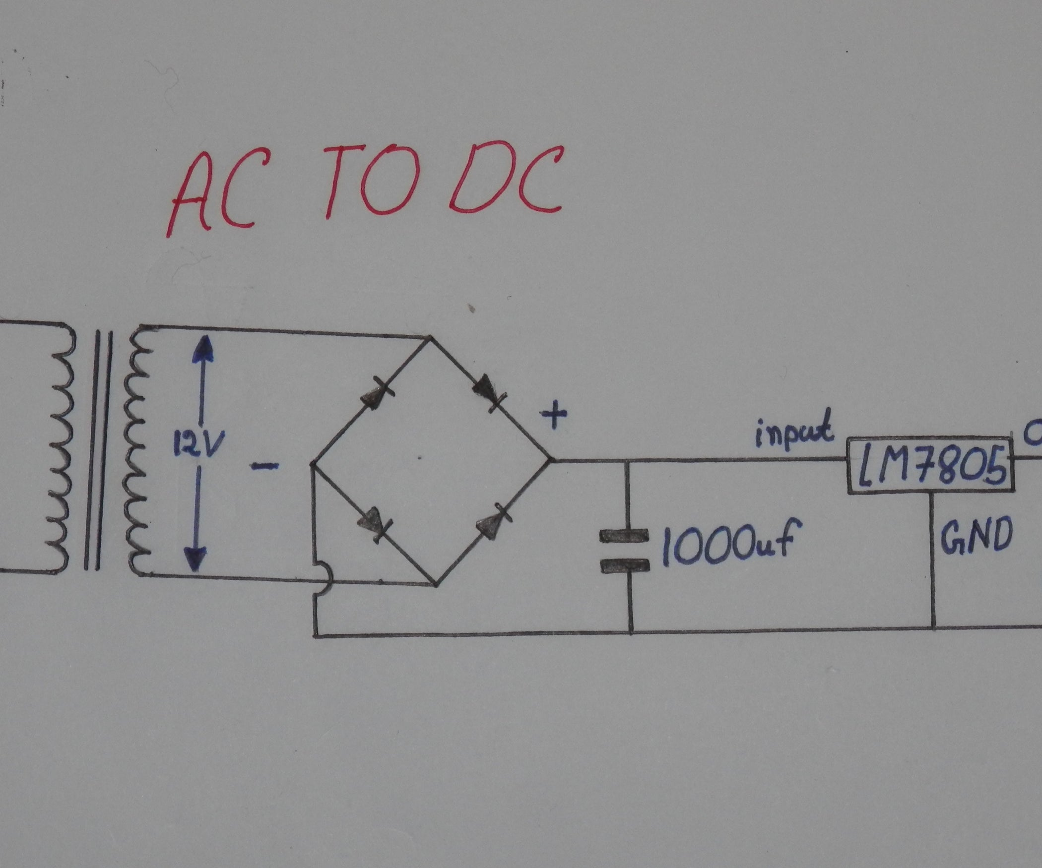 How To Convert 220v Ac 5v Stable Dc 5 Steps Led Circuit Schematic