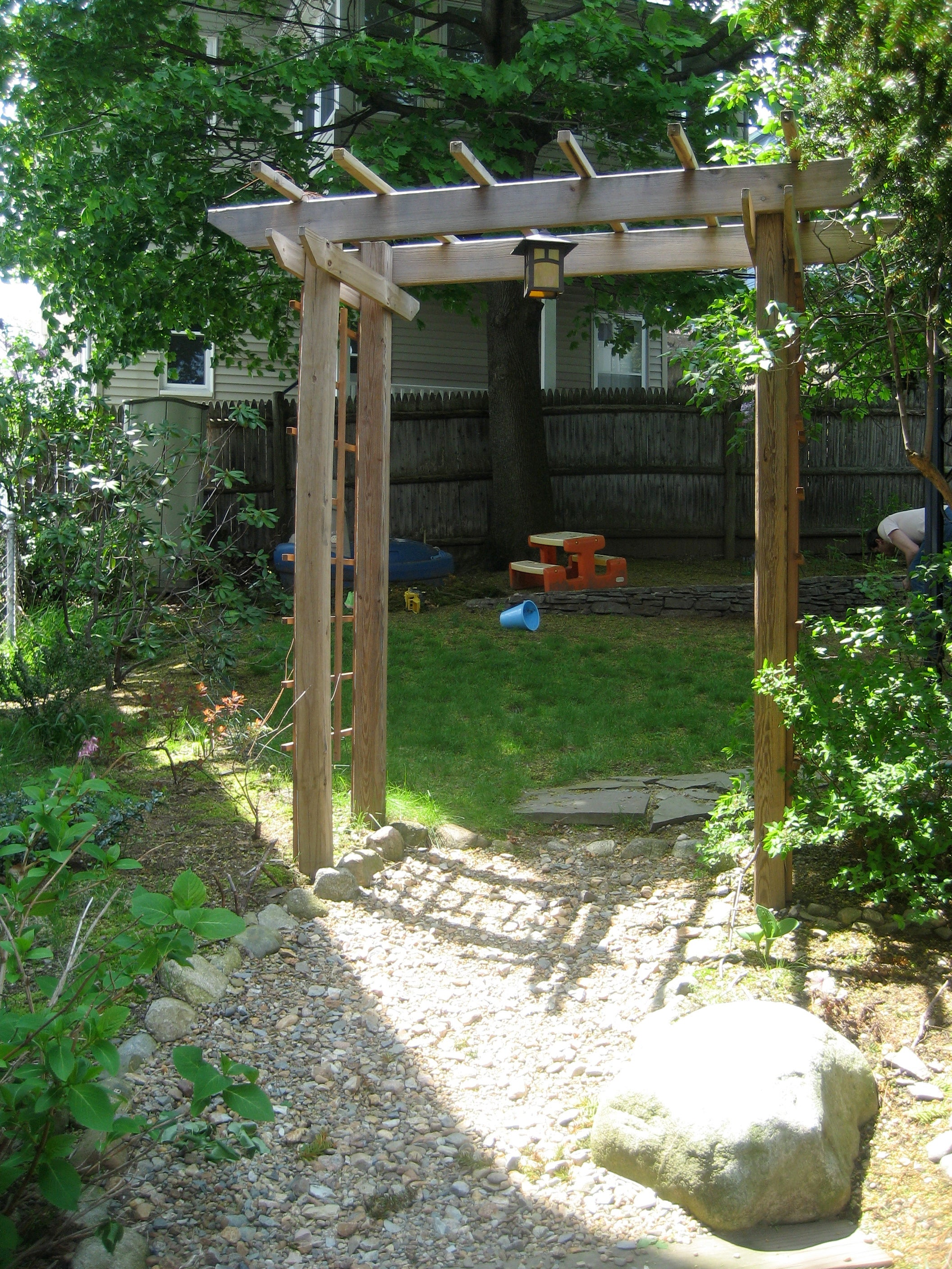 Build A Wooden Garden Arbor 6 Steps With Pictures Instructables