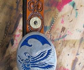 'Merican Leather Belt (w/ Shotgun Shell Conchos)