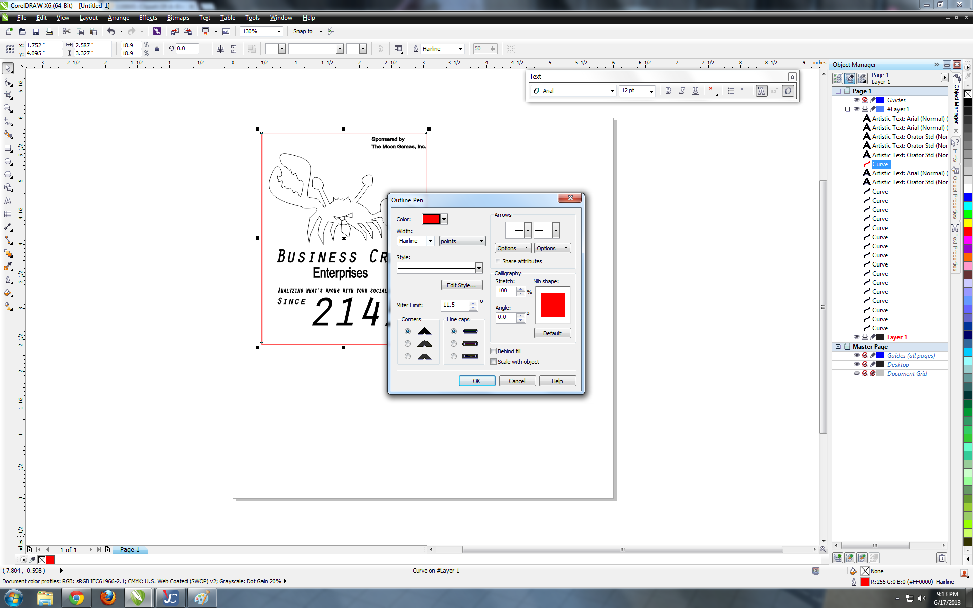 Picture of Software Setup: Line Weight and Colors