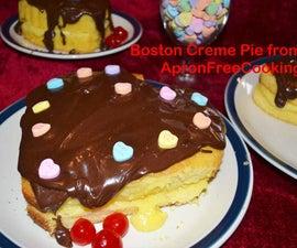 Romantic Boston Creme Pie Hearts for Valentine's Day