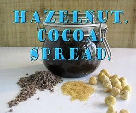 Hazelnut. Cocoa. Spread.